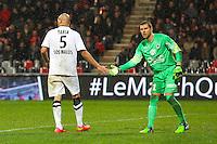 Alaeddine YAHIA / Remy VERCOUTRE  - 03.12.2014 - Guingamp / Caen - 16eme journee de Ligue 1 <br /> Photo : Vincent Michel / Icon Sport