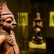 Smithsonian National Museum of African Art Clay Statue. The Smithsonian National Museum of African Art was opened at its current location in 1987 as a mostly underground facility behind the Smithsonian Castle on Washington DC's National Mall. It is dedicated to ancient and contemporary African art.