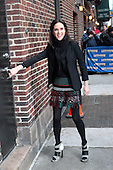 David Letterman welcomes Jennifer Connelly, Paul Teutul Sr. and held at Ed Sullivan Theater in NYC