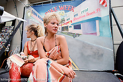 Models on Break, Daytona Beach, FL., 1992<br /> <br /> Limited Edition Print from an edition of 15. Photo ©1992 Michael Lichter