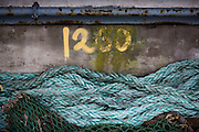 Numerals, Maritime, Cornwall, Newlyn, Rope, Sea, Waves,