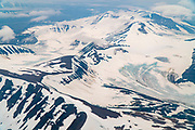 Aerial photography of Spitsbergen, Svalbard, Norway