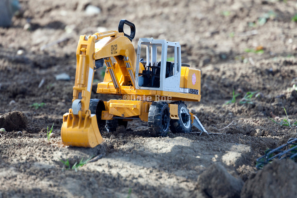 realistic toy construction digger