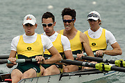 Munich, GERMANY, 2006, FISA, Rowing, World Cup, AUS LM4- Bow Michael McBryde, 2. Todd Skipworth, 3. Ben Cureton and Tom Gibson.  held on the Olympic Regatta Course, Munich, Thurs. 25.05.2006. © Peter Spurrier/Intersport-images.com,  / Mobile +44 [0] 7973 819 551 / email images@intersport-images.com.[Mandatory Credit, Peter Spurier/ Intersport Images] Rowing Course, Olympic Regatta Rowing Course, Munich, GERMANY