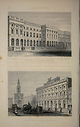 London King's College, Strand (Top) Somerset House, Strand (Bottom) From the book Illustrated London, or a series of views in the British metropolis and its vicinity, engraved by Albert Henry Payne, from original drawings. The historical, topographical and miscellanious notices by Bicknell, W. I; Payne, A. H. (Albert Henry), 1812-1902 Published in London in 1846 by E.T. Brain & Co