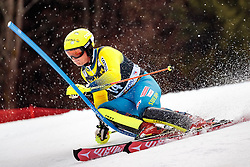 05.03.2017, Podkoren, Kranjska Gora, SLO, FIS Weltcup Ski Alpin, Kranjska Gora, Slalom, Herren, 1. Lauf, im Bild Mattias Hargin (SWE) // Mattias Hargin of Sweden in action during his 1st run of men's Slalom of FIS ski alpine world cup at the Podkoren in Kranjska Gora, Slovenia on 2017/03/05. EXPA Pictures © 2017, PhotoCredit: EXPA/ Johann Groder