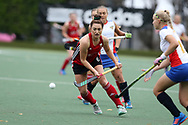 Sophie Clayton of Wales © in action. Wales v Russia, semi final,  EuroHockey 11 Women's championshp 2017 in Cardiff, South Wales , Friday 11th August 2017<br /> pic by Andrew Orchard