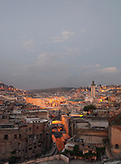 View of the medina including the Kairaouine Mosque, at dawn in Fes, Morocco