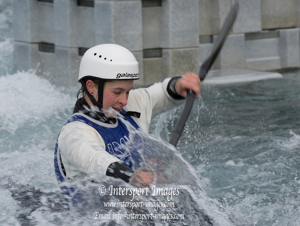 Watham Cross, London, Hannah BURGESS in action at the British Canoeing Media Day, Lee Valley White Water Course. England  Wednesday  25/02/2015  [Mandatory Credit; Peter Spurrier/Intersport-images]