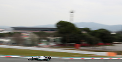 Mercedes Lewis Hamilton during day three of pre-season testing at the Circuit de Barcelona-Catalunya.