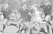 Twickenham, GREAT BRITAIN,  Harlequins vs London Wasps, played at The Stoop Memorial Ground. 14. 10.1994, [C] Graham CHILDS, far right Norm HADLEY,<br /> <br /> [Mandatory Credit; Peter Spurrier/Intersport-images]
