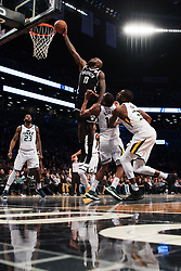 November 18, 2017 - New York, NY, USA - 171117 Brooklyns Quincy Acy gÅ¡r poÅng under basketmatchen i NBA mellan Brooklyn Nets och Utah Jazz den 17 november 2017 i New York  (Credit Image: © Joel Marklund/Bildbyran via ZUMA Wire)