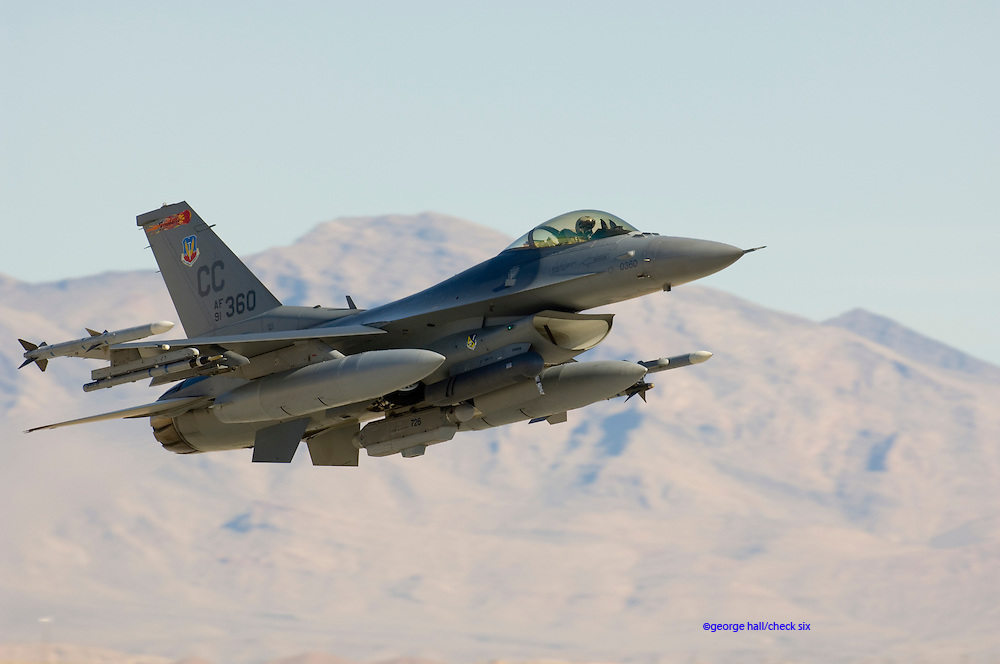 The first Red Flag in which Lockheed F-22A Raptor's took part. Nellis AFB, Nevada. 2007