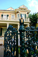 Cornstalk Hotel New Orleans - The gorgeous French Quarter Victorian is on the National Register of Historic Places, and is famous as a tourist attraction.  The 'cornstalk' fence was erected in 1840 by the owner, recently married, who wanted to please his bride because of her homesickness for her home state of Iowa.  <br /> The Cornstalk Hotel has attracted many famous guests:  Bill and Hillary Clinton, as well as Elvis graced the halls of The Cornstalk.