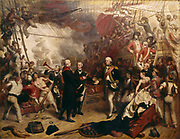 Admiral Duncan Receiving the Sword of the Dutch Admiral de Winter at the Battle of Camperdown, 11 October 1797. Admiral Adam Duncan, 1st Viscount Duncan (1 July 1731 – 4 August 1804) was a British admiral who defeated the Dutch fleet off Camperdown (north of Haarlem) on 11 October 1797. This victory is considered one of the most significant actions in naval history.