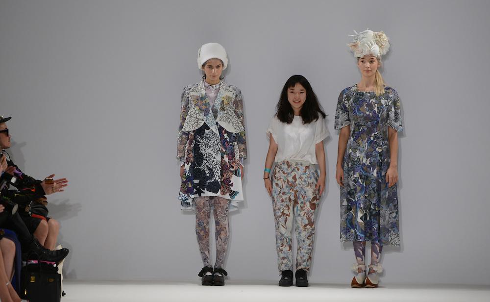 Keiko Nishiyama fashion show during London Fashion Week SS 2015. 12/09/2014 London, UK. credit: Anne-Marie Michel