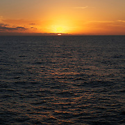 Sunset over the the southern Atlantic Ocean about 100 miles south of Buenos Aires, Argentina