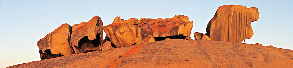Remarkable Rocks are naturally sculptured formations precariously balanced atop a granite outcrop panoramic.