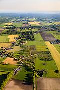 Nederland, Utrecht, Utrechtse Heuvelrug, 27-05-2013; buurtschap en buitengebied De Groep.<br /> Tijdens de Tweede Wereldoorlog lag de Grebbelinie in dit gebied met oorlogsschade aan boerderijen en landerijen als gevolg. Herstel en ruilverkaveling na de oorlog, wederopbouwgebied.<br /> The Grebbe Line (defense linein World War II ) ran through this area. After the war repair of destroyed farm lands and farms took place  as well as land consolidation in the context of the Reconstruction.<br /> luchtfoto (toeslag op standard tarieven)<br /> aerial photo (additional fee required)<br /> copyright foto/photo Siebe Swart