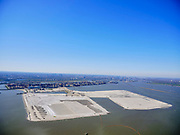 Nederland, Noord-Holland, Amsterdam;  03-23-2020; IJburg, Centrumeiland wordt uitgebreid met Middeneiland en Strandeiland. <br /> IJburg, Centrumeiland will be expanded with Middeneiland and Strandeiland.<br /> <br /> luchtfoto (toeslag op standard tarieven);<br /> aerial photo (additional fee required);<br /> copyright foto/photo Siebe Swart