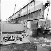 """ackroyd-P094-11 """"Drydock repaint. June 11, 1965"""" (repainting the Port of Portland drydock on Swan Island)"""