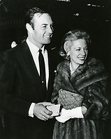 1959 George Montgomery and Dinah Shore at a Grauman's Chinese Theater movie premiere