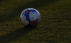 Official Mitre match ball- Mandatory by-line: Nizaam Jones/JMP - 27/02/2021 - FOOTBALL - The innocent New Lawn Stadium - Nailsworth, England - Forest Green Rovers v Colchester United - Sky Bet League Two