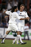 Fotball<br /> Foto: Dppi/Digitalsport<br /> NORWAY ONLY<br /> <br /> FRIENDLY GAMES 2005/2006 - PARIS SG v AEK ATHENS - 20/07/2005 - JOY MARIO YEPES / DAVID ROZEHNAL (PSG)