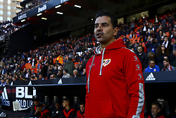 November 24, 2018 - Valencia, Spain - Head coach of Rayo Vallecano Miguel Angel Sanchez, Michel before la liga Match between Valencia CF and Rayo Vallecano a at Mestalla  Stadium on  November 24, 2018. (Credit Image: © Jose Miguel Fernandez/NurPhoto via ZUMA Press)