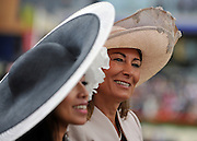 © licensed to London News Pictures. ASCOT, UK.  16/06/11. Carole Middleton. Ladies Day at Royal Ascot 16 June 2011. Royal Ascot has established itself as a national institution and the centrepiece of the British social calendar as well as being a stage for the best racehorses in the world. Mandatory Credit Stephen Simpson/LNP