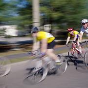 Bicycle Race in Newton, Massachusetts