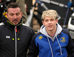 © Licensed to London News Pictures. 24/03/2014; Clevedon, UK. Niall Horan Pictured. One Direction filming on Clevedon Pier. It is believed the band - Harry Styles, Zayn Malik, Liam Payne, Niall Horan and Louis Tomlinson - were filming for a new music video. Photo credit: Simon Chapman/LNP