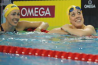 SWIMMING - FINA WORLD CHAMPIONSHIPS SHORT COURSE 2010 - DUBAI (UAE) - DAY 3 - 17/12/2010 - PHOTO : STEPHANE KEMPINAIRE / DPPI - <br /> WOMEN'S 50 M BUTTERFLY - FINALE - WINNER - FELICITY GALVEZ (AUS) - SILVER MEDAL - THERESE ALSHAMMAR (SWE)