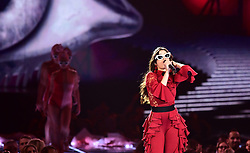 Camila Cabello on stage during the MTV Europe Music Awards 2017 held at The SSE Arena, London. PRESS ASSOCIATION Photo. Picture date: Sunday November 12, 2017. Photo credit should read: Ian West/PA Wire
