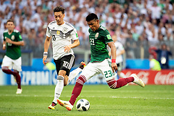 June 17, 2018 - Moscow, Russia - 180617 Mesut Özil of Germany and Jesus Gallardo of Mexico during the FIFA World Cup group stage match between Germany and Mexico on June 17, 2018 in Moscow..Photo: Petter Arvidson / BILDBYRÃ…N / kod PA / 92069 (Credit Image: © Petter Arvidson/Bildbyran via ZUMA Press)