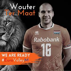 Wouter Ter Maat of Netherlands, Photoshoot selection of Orange men's volleybal team season 2021on may 11, 2021 in Arnhem, Netherlands (Photo by RHF Agency/Ronald Hoogendoorn)