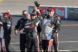 November 10, 2018 - Avondale, Arizona, U.S. - Christopher Bell (20) takes the checkered flag and celebrates after winning the Whelen Trusted to Perform 200 at ISM Raceway in Avondale, Arizona. (Credit Image: © Justin R. Noe Asp Inc/ASP)