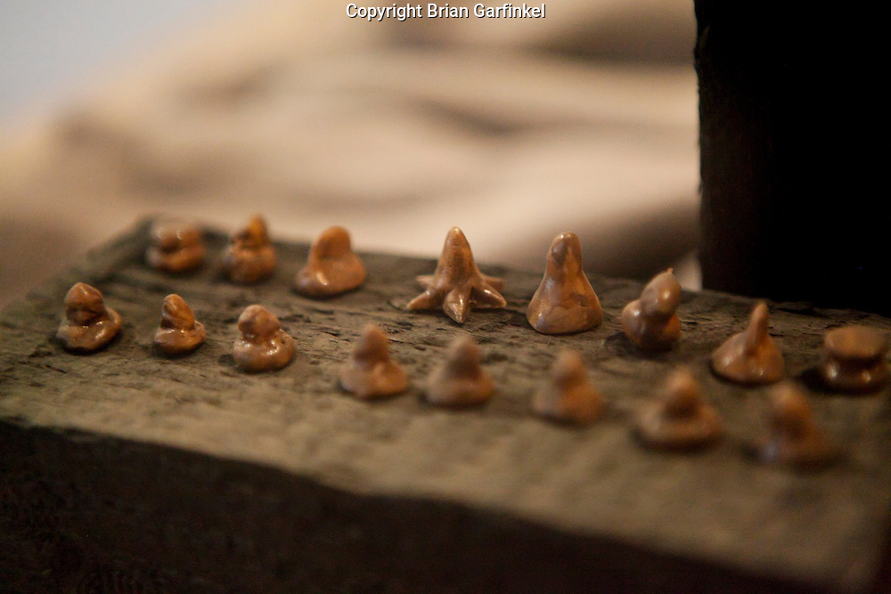 A Chess set made of bread on display in Auschwitz Concentration Camp in Poland on Tuesday July 5th 2011.  (Photo by Brian Garfinkel)