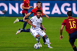 SEVILLE, SPAIN - Tuesday, November 17, 2020: Serge Gnabry of Germany, Koke of Spain during the UEFA Nations League match between Spain and Germany at Estadio La Cartuja de Sevilla on november 17, 2020 in Seville, Spain (Photo by Jeroen Meuwsen/Orange Pictures)