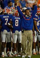 MORNING JOURNAL/DAVID RICHARD.Florida head coach Urban Meyer during the BCS National Championship game vs. Ohio State.