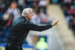 Dunfermline manager Jim Jeffries.<br /> Falkirk 2 v 1 Dunfermline, Scottish League Cup, 27/8/2013, at The Falkirk Stadium.<br /> ©Michael Schofield.