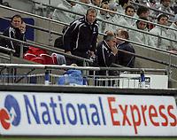 Photo: Paul Thomas/Sportsbeat Images.<br /> England v Croatia. UEFA European Championships Qualifying. 21/11/2007.<br /> <br /> Concerned looking manager Steve McClaren of England.