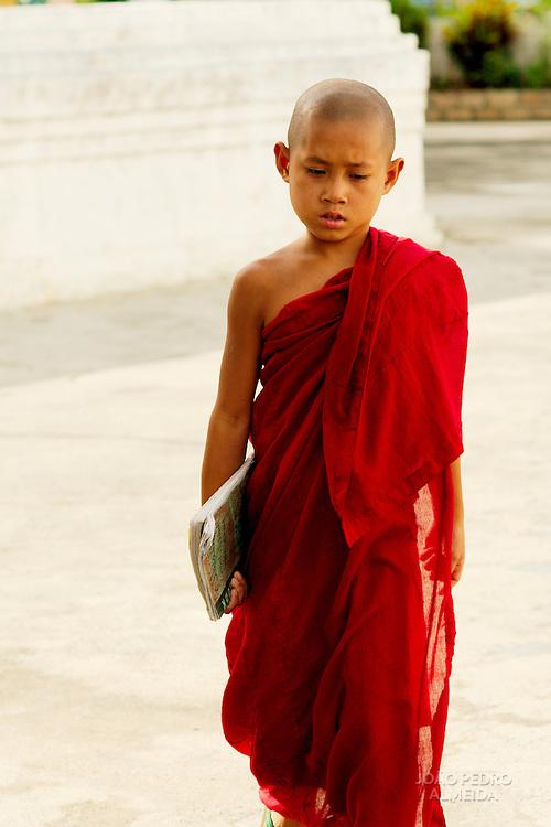 Young monk outside Shwe Yan Pya  monastery