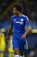 Loic Remy of Chelsea looking on. UEFA Champions League group G match, Chelsea v Maccabi Tel Aviv at Stamford Bridge in London on Wednesday 16th September 2015.<br /> pic by John Patrick Fletcher, Andrew Orchard sports photography.