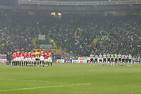 """PORTUGAL - LISBOA 08 JANUARY 2005: The two squads held a minute of silence in memory of the Southeast Asia Tsunami victims  in the 16¼ leg of the Super Liga, season 2004/2005, match  Sporting CP vs SL Benfica (2 - 1), held in """"Alvalade XXI"""" stadium,  08/01/2005  21:49:51<br />(PHOTO BY: NUNO ALEGRIA/AFCD)<br /><br />PORTUGAL OUT, PARTNER COUNTRY ONLY, ARCHIVE OUT, EDITORIAL USE ONLY, CREDIT LINE IS MANDATORY<br /> AFCD-PHOTO AGENCY 2005 © ALL RIGHTS RESERVED"""
