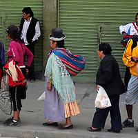 South America, Bolivia, La Paz. People of La Paz.