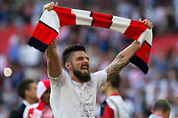 Arsenal's Olivier Giroud celebrates after the match  <br /> <br /> <br /> Photographer Craig Mercer/CameraSport<br /> <br /> The Emirates FA Cup Final - Arsenal v Chelsea - Saturday 27th May 2017 - Wembley Stadium - London<br />  <br /> World Copyright © 2017 CameraSport. All rights reserved. 43 Linden Ave. Countesthorpe. Leicester. England. LE8 5PG - Tel: +44 (0) 116 277 4147 - admin@camerasport.com - www.camerasport.com