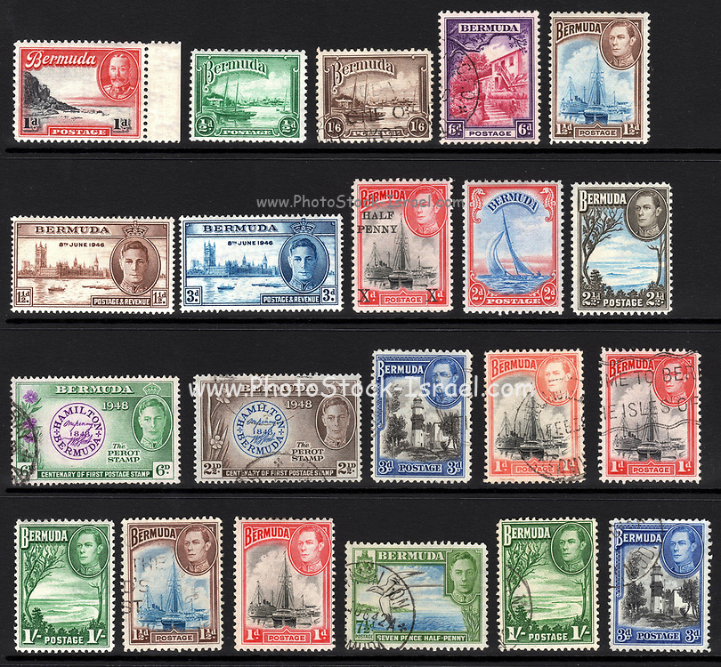 Bermuda stamps. 1949 and earlier. Bermuda (The Somers Isles, or Islands of Bermuda) is a British Overseas Territory in the North Atlantic Ocean.
