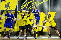 Blaz Janc of RK Celje PL during handball match between RK Gorenje and RK Celje Pivovarna Lasko in 5th Round of 1st NLB Leasing Slovenian Champions League 2015/16, on May 11, 2016, in Red arena, Velenje, Slovenia. Photo by Vid Ponikvar / Sportida