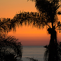 USA, California, San Diego. Sunset view from Cardiff by the Sea (north county San Diego.